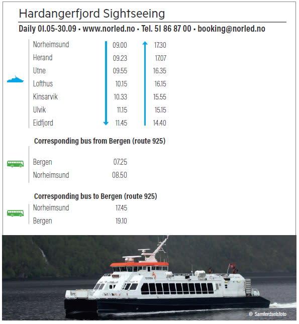 Hardangerfjord Sightseeing 2018
