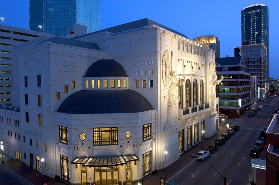 Bass Performance Hall Exterior at Night