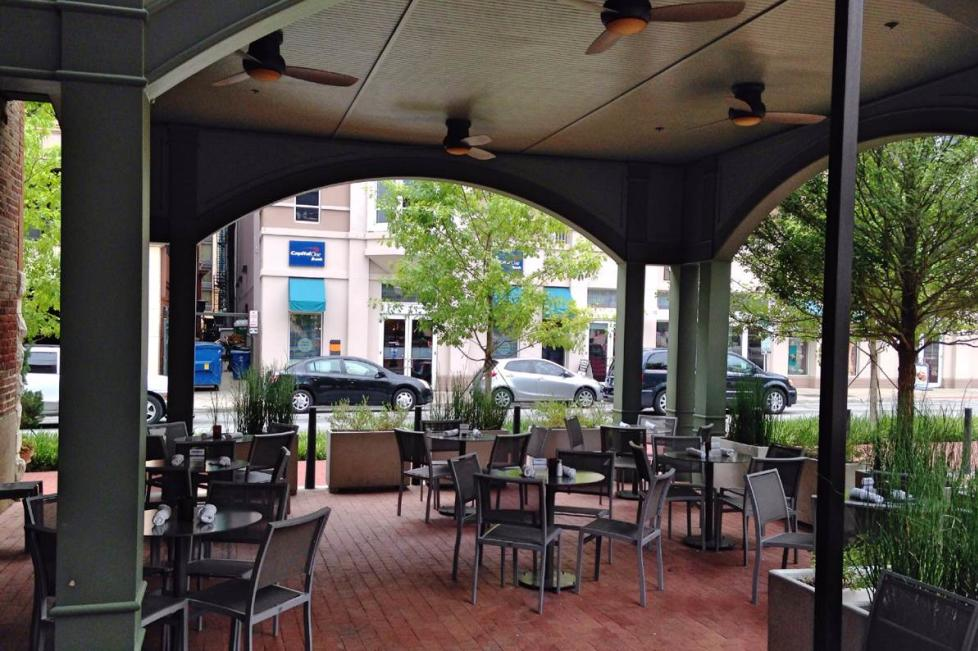 The 4th Street Patio (semi-private, outdoor area that seats up to 36 guests)