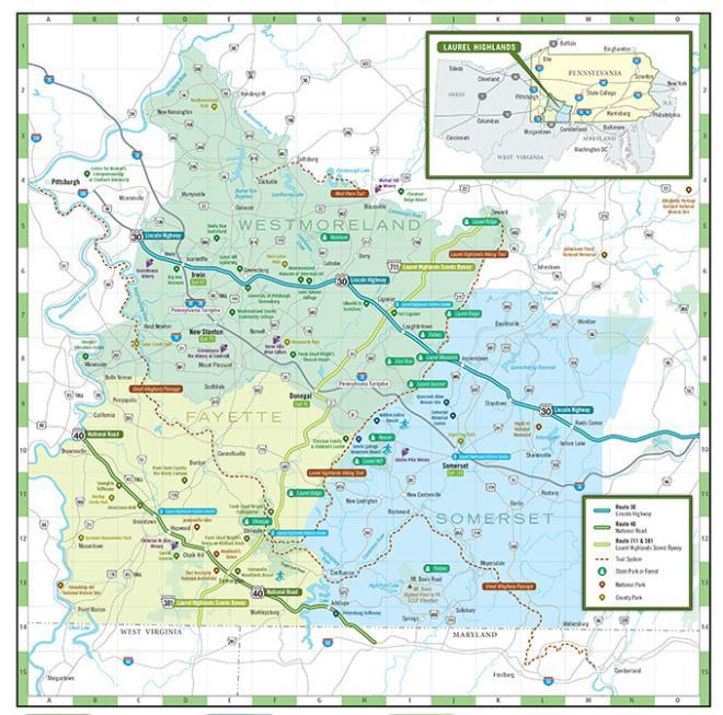 Laurel Highlands Regional Map