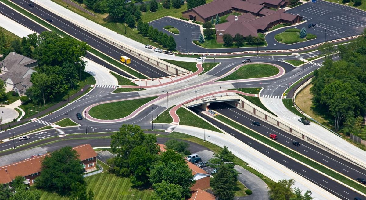 126th and Keystone Roundabout