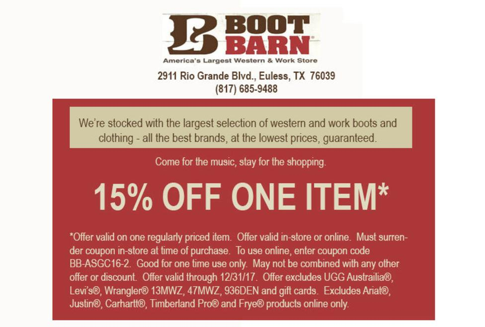 Boot barn coupon stopboris Images