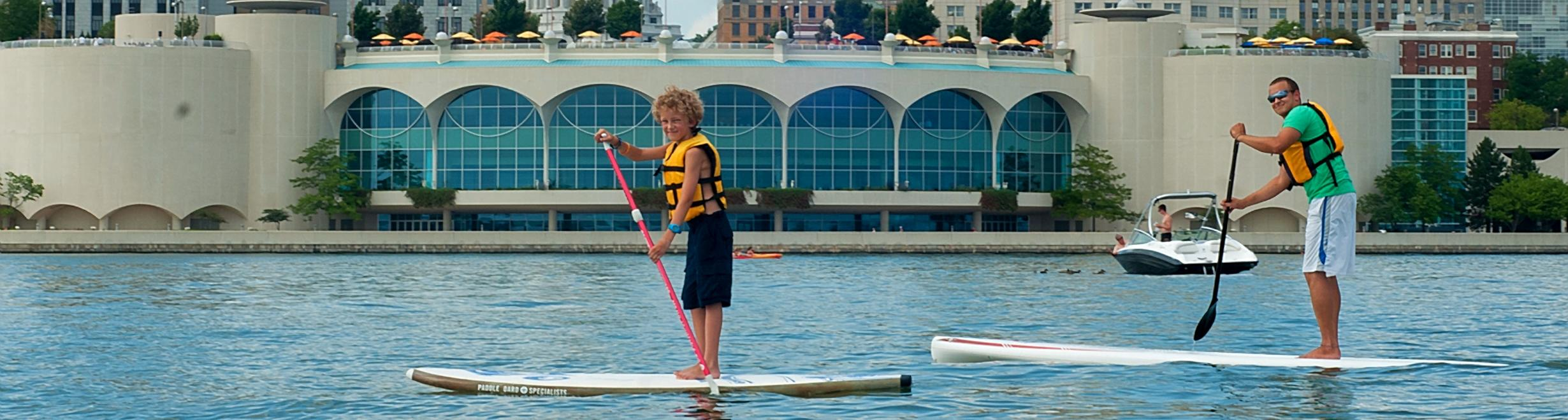 Stand Up Paddleboarding, Monona Terrace