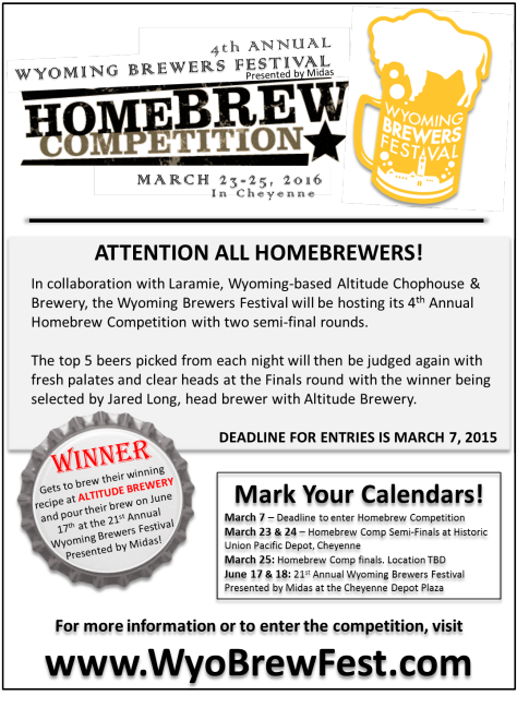 Home Brew Competition Information
