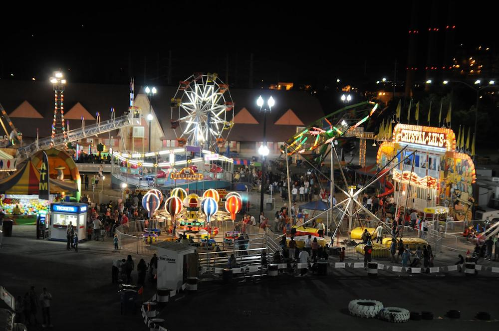 Arts Events Culture Utah State Fair Midway Night
