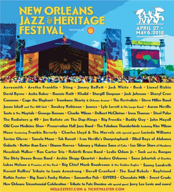 Jazzfest 2018 Lineup