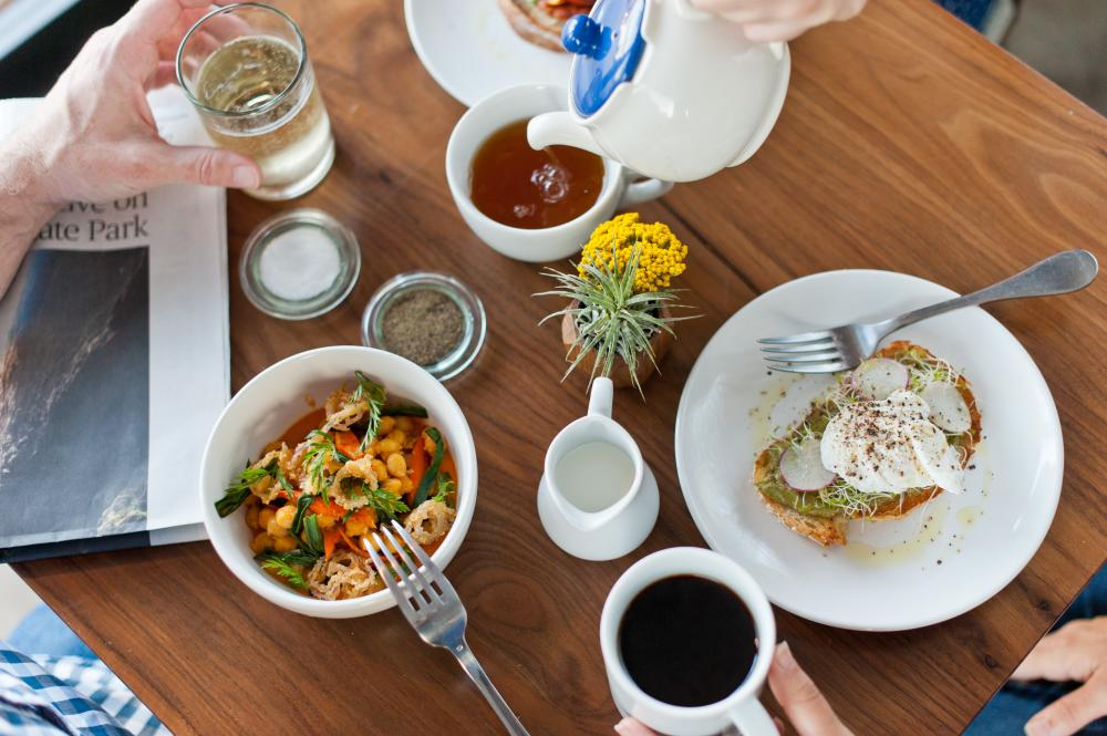 Brunch at Patika coffee and wine bar on south lamar in Austin Texas