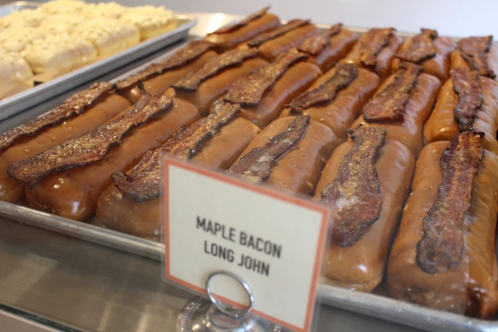 Maple Bacon Long John at Glazed and Infused Chicago
