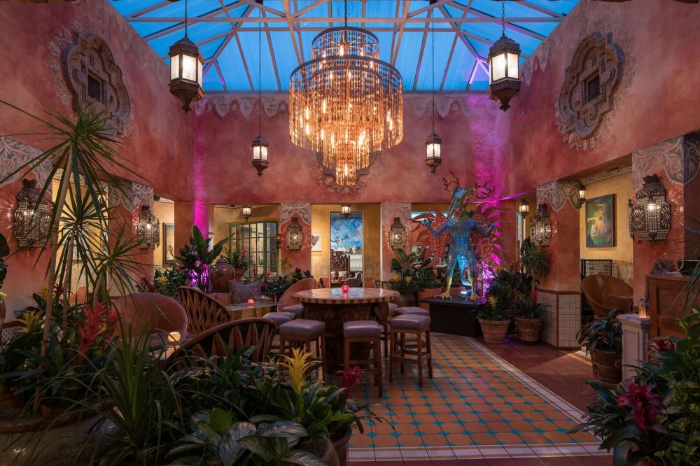 Interior at Fonda San Miguel Mexican restaurant in Austin Texas