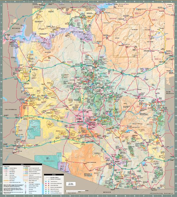 Arizona State Map Mesa Arizona Maps Mesa AZ - Arizona map