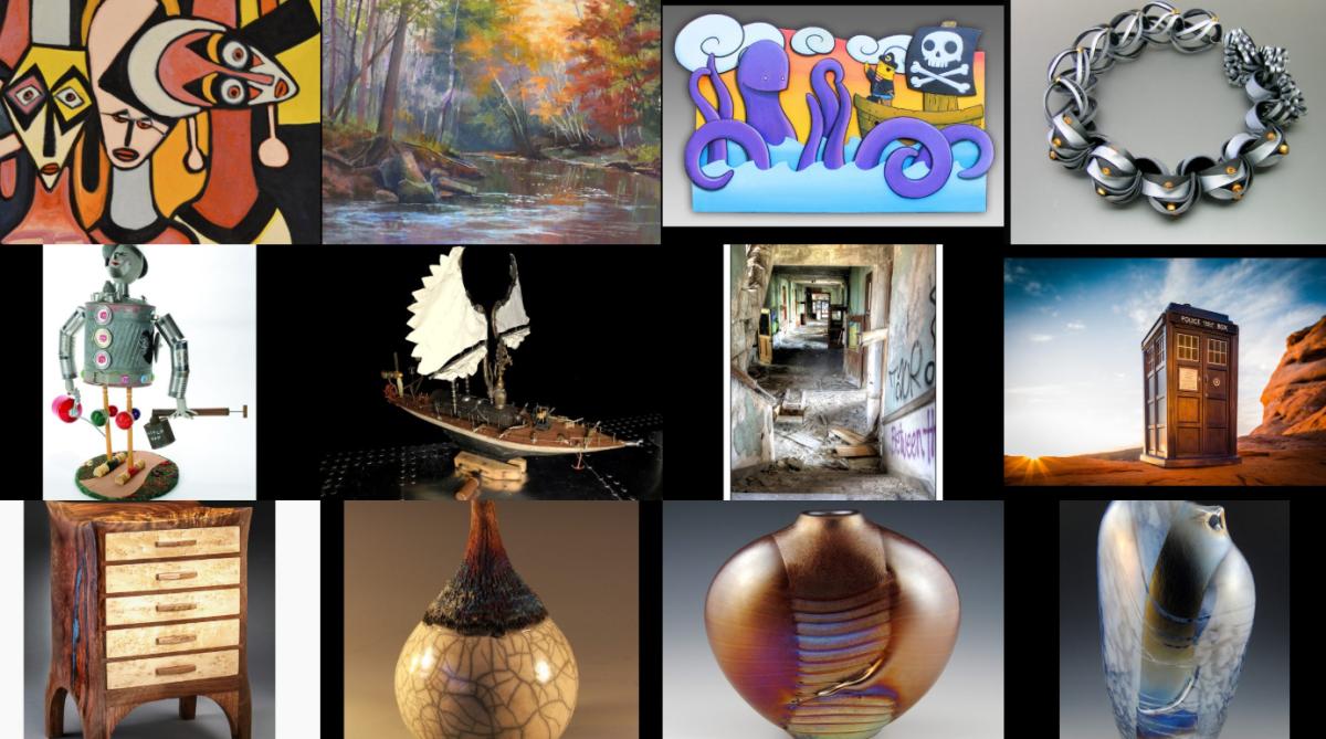A collage of art works from Summerfair in Cincinnati