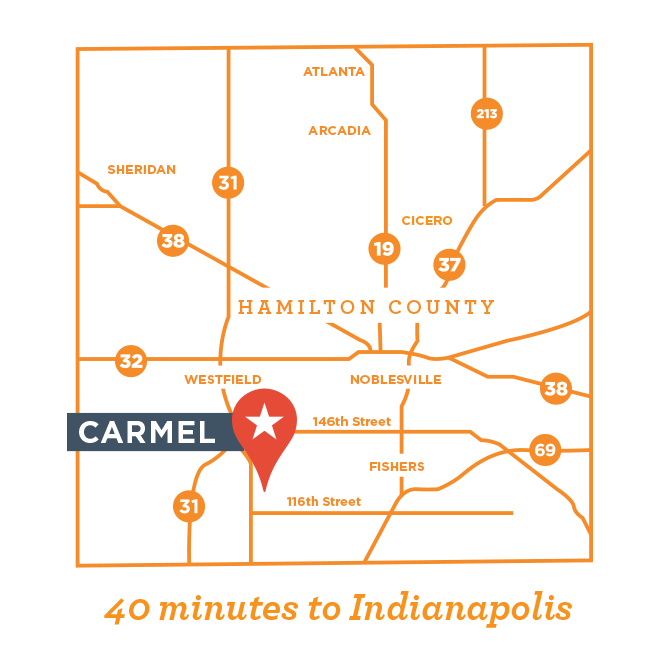 Carmel Indiana Map