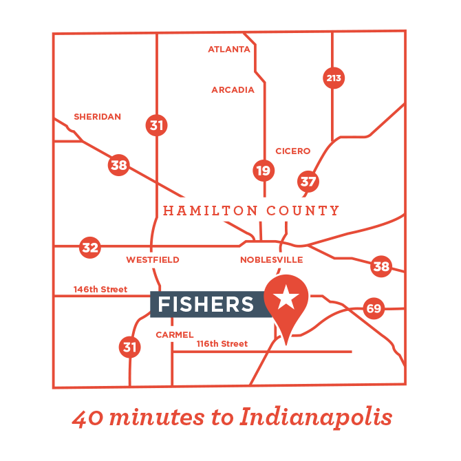 Fishers Indiana Map
