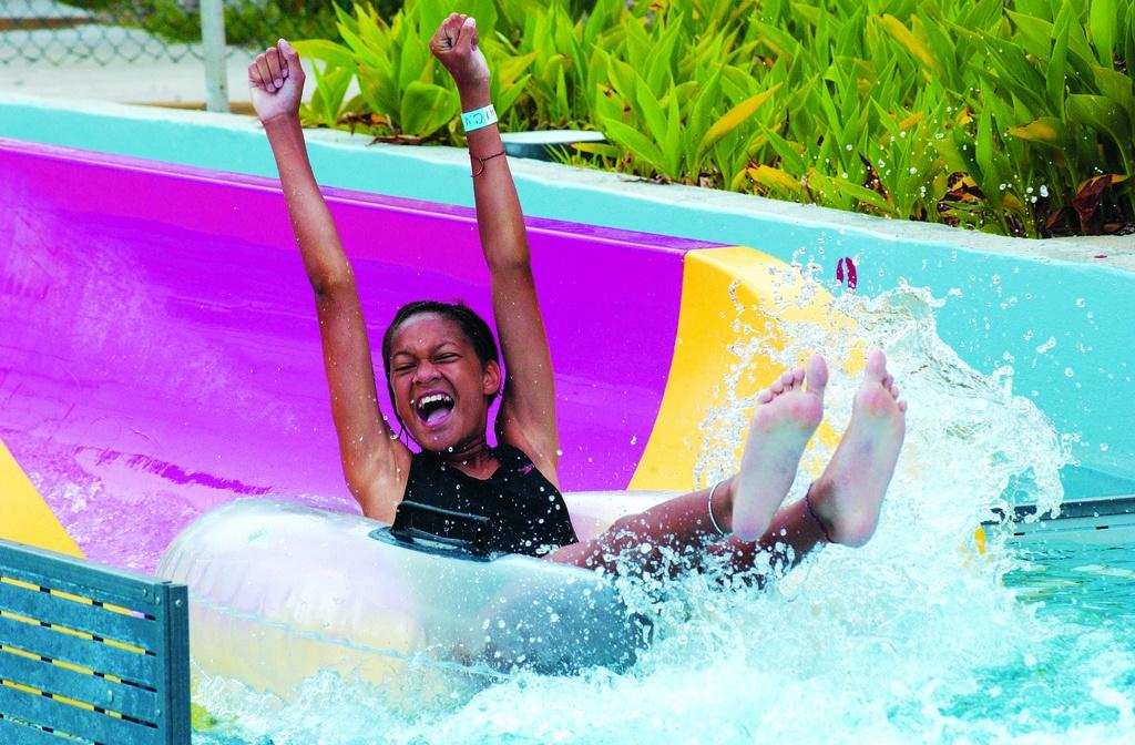 Fun in the water park at Jungle Rapids Family Fun Park