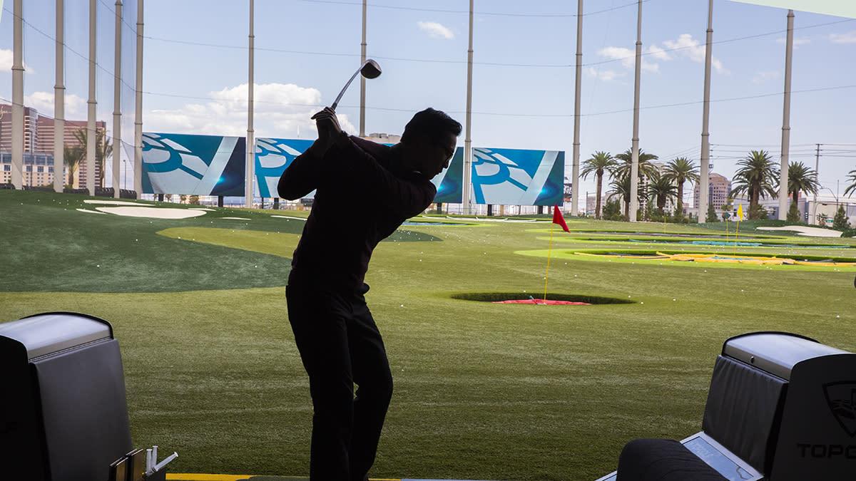 Top Golf Silhouette Golfer
