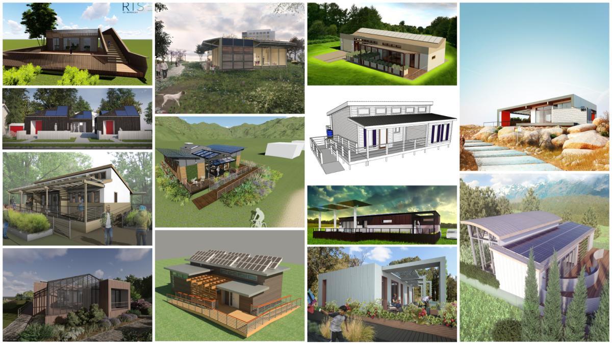 collage of Solar Decathlon homes
