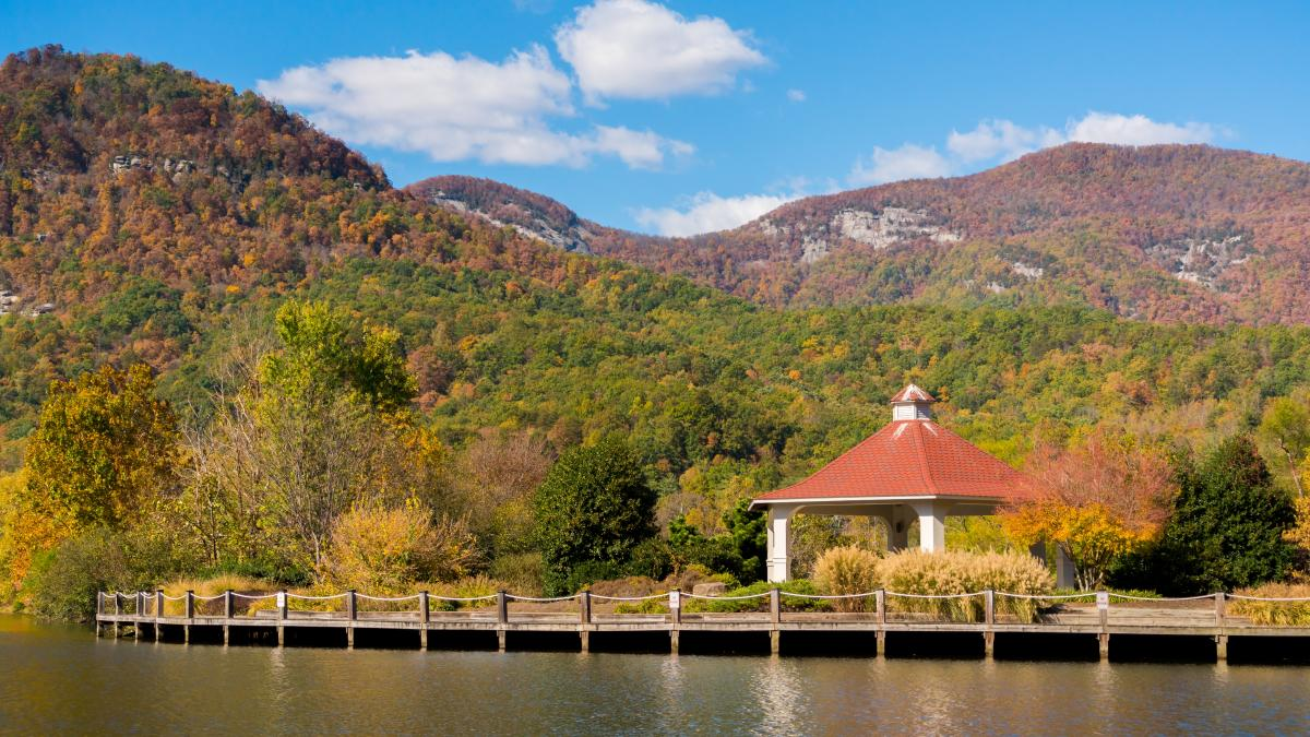 Fall in Lake Lure by Morse Park