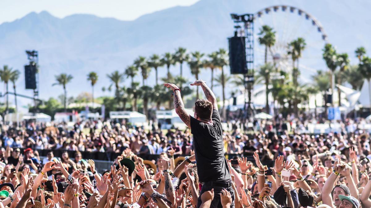 Crowdsurfer at Coachella