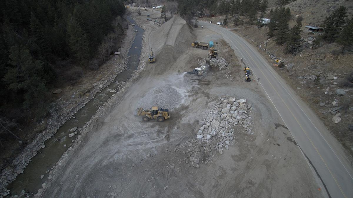 Aerial of Highway 34 Construction