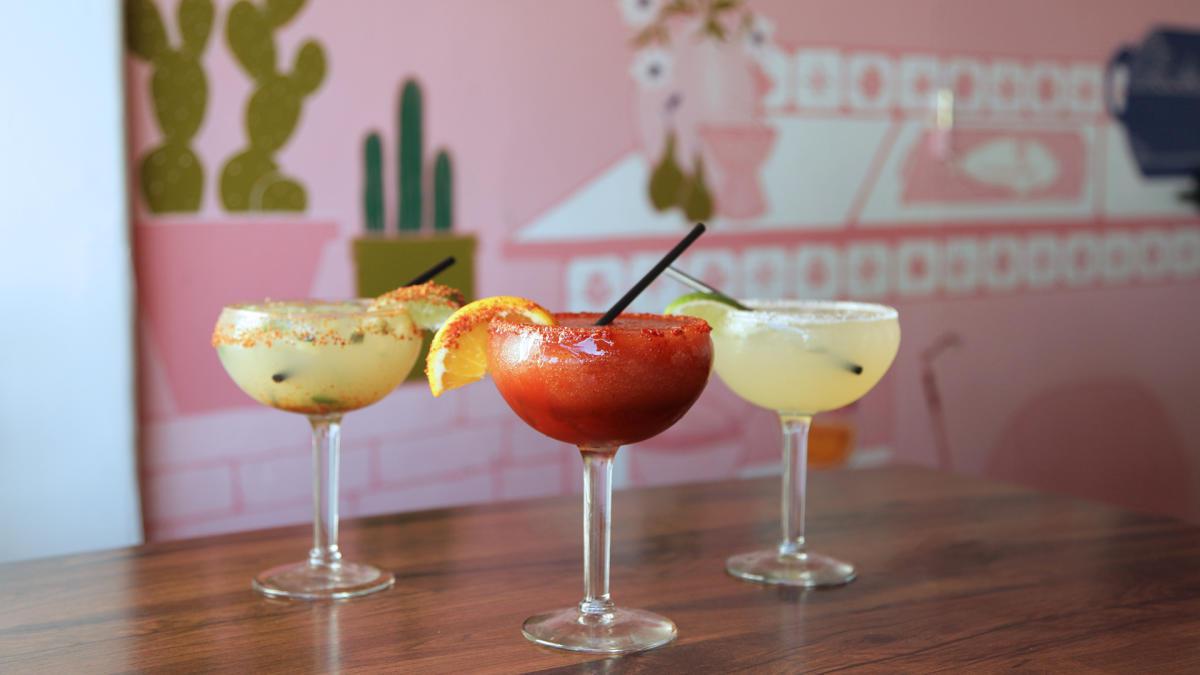 Margaritas at Casuelas Cafe