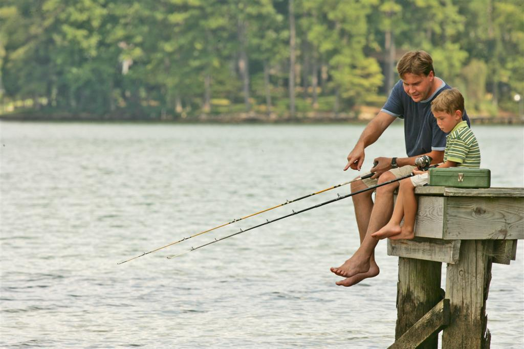 Fishing at Lake Sinclair