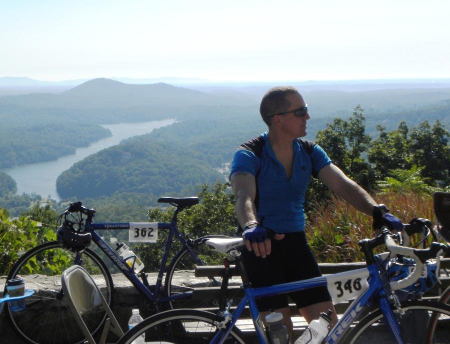 Spectacular Views of Lake Lure from Bike