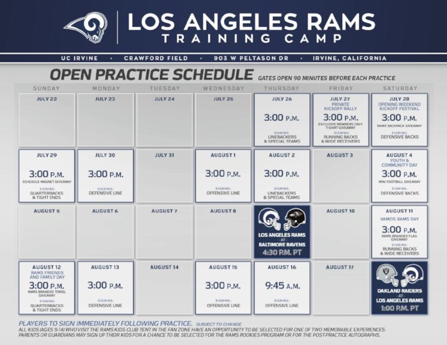 LA Rams Training Camp