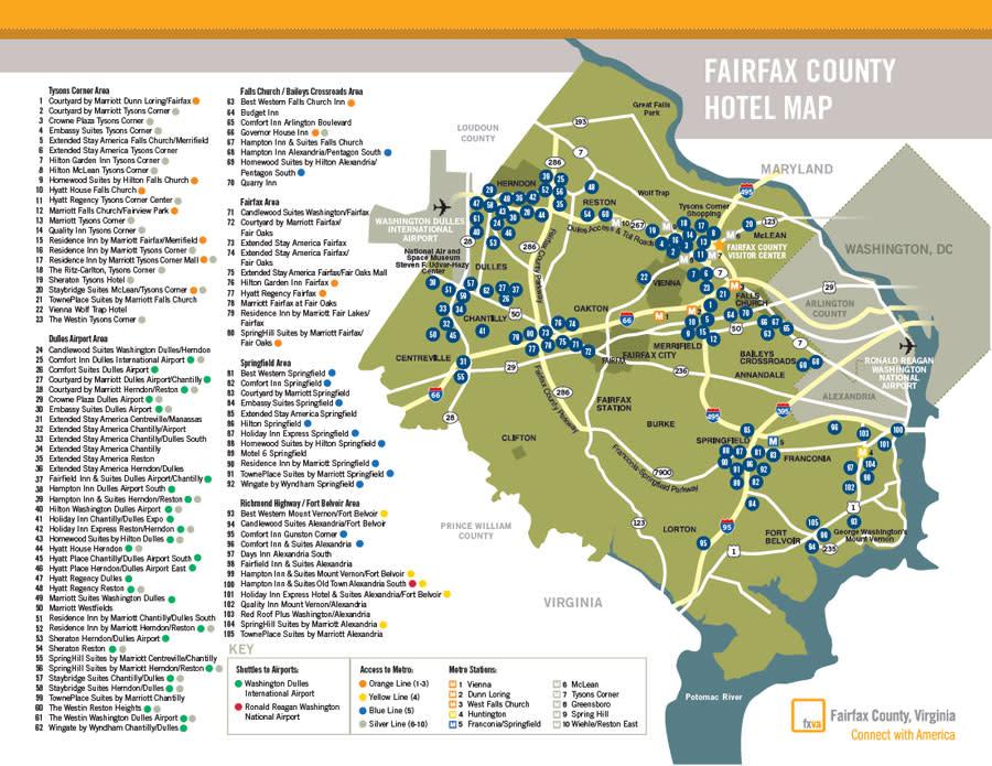 Fairfax County Hotel Map 08_16