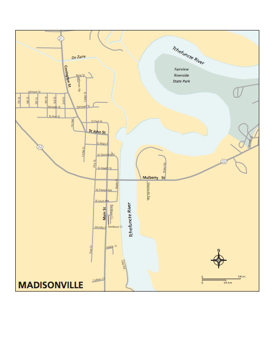 Map of Madisonville