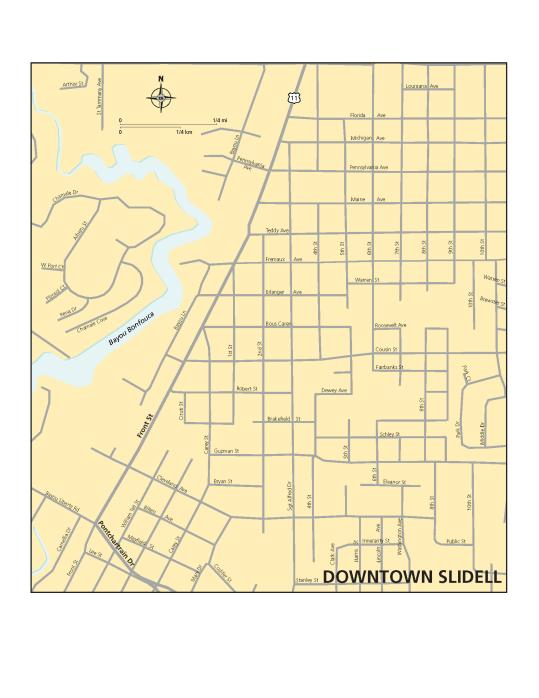 Slidell Map - Olde Towne