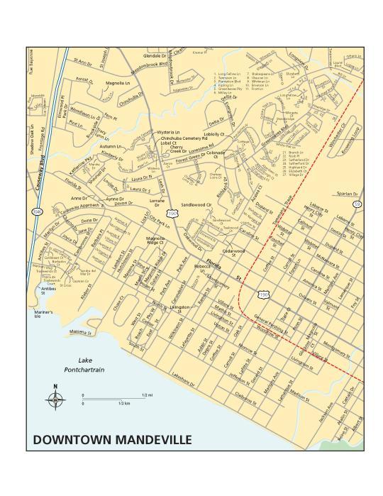 Mandeville Map - Old Mandeville