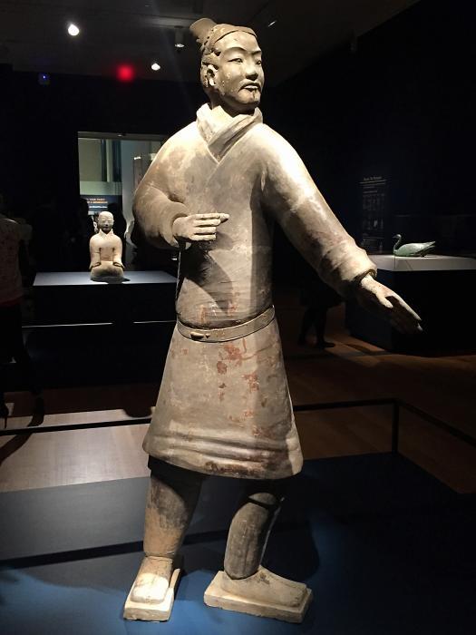 Standing terracotta warrior