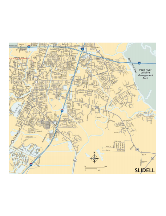 Map of Slidell