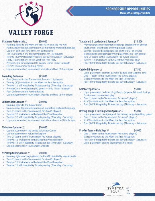Valley Forge Invitational Sponsorship Opportunities