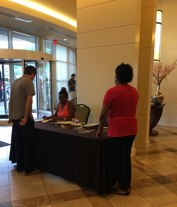 Sign-in at Marriott
