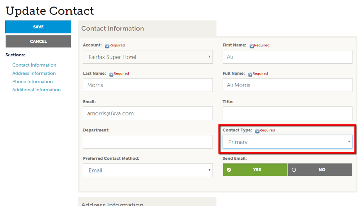Extranet Guides - Manage Contacts 3