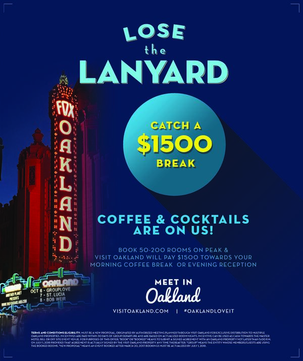 Visit Oakland Meeting Incentive