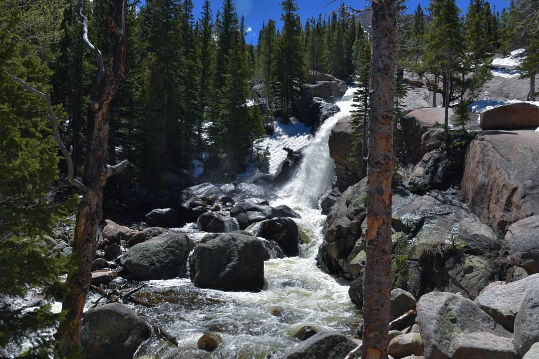 Five incredible waterfall hikes in rocky mountain national park alberta falls easy beginning at the glacier gorge trailhead one must only walk about 08 miles in order to reach this 30 foot waterfall altavistaventures Images