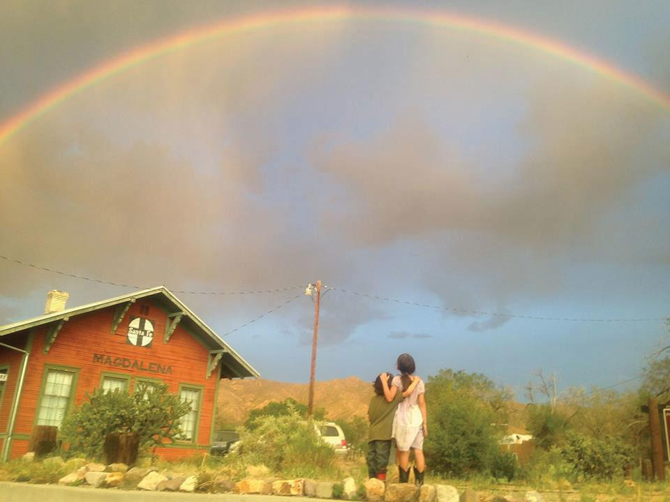 First Place: Mobile, Rainbow over Magdalena Library by Jessica Carranza