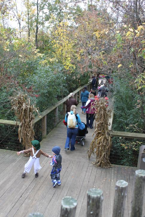 Families attending the Hallowee-ones event at Frederik Meijer Gardens