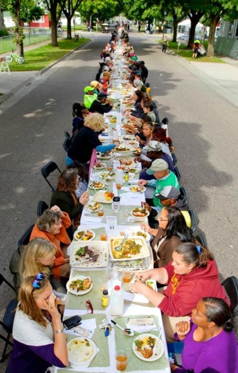 Heartside Community Meal art installation at ArtPrize 2017 in Grand Rapids