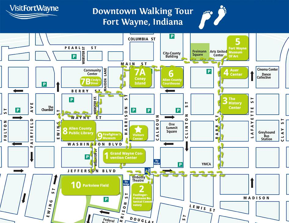 downtown walking map