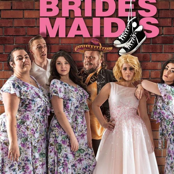 Lead cast for Bridesmaids at Celebrations dinner theatre