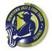 Jazz & Food Trucks logo - silhoutte of musician in fedora with saxaphone