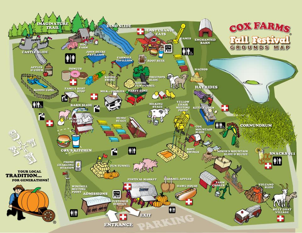 Cox Farm Festival Map