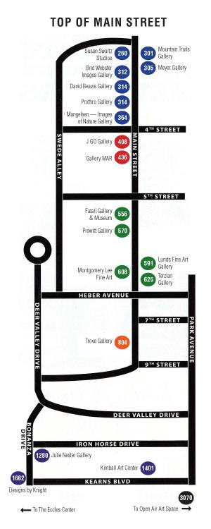 Gallery Stroll Map
