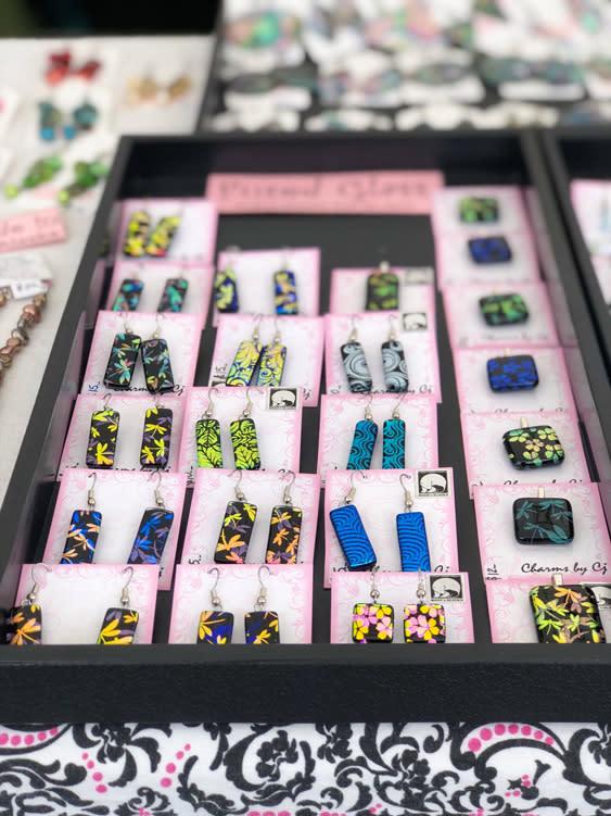 Farmers Markets - Fairbanks Alaska - glass earrings