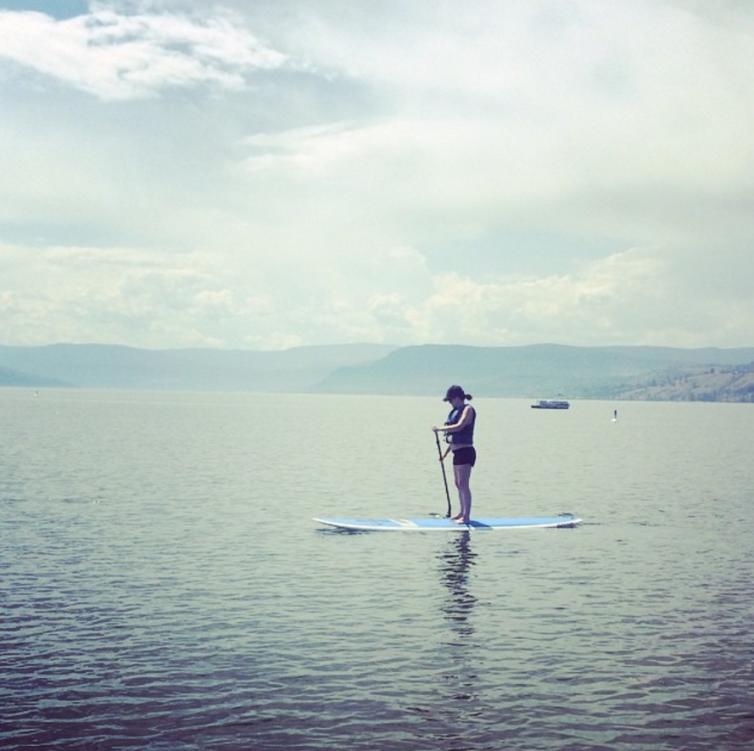 SUP on Okanagan Lake
