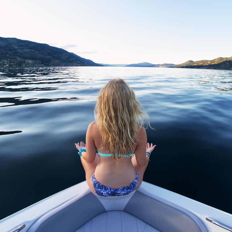 Cool Blues of OkanaZEN Lake.