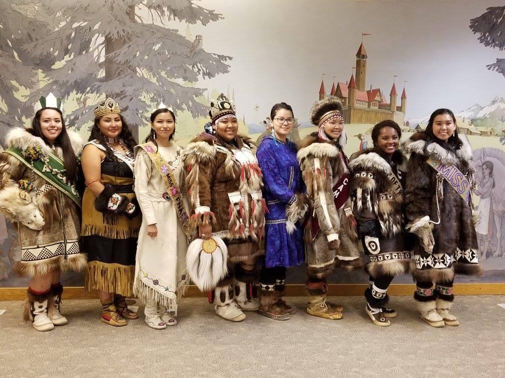Pageant Contestants at WEIO - Fairbanks, Alaska